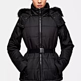 Topshop SNO Black Hooded Ski Jacket
