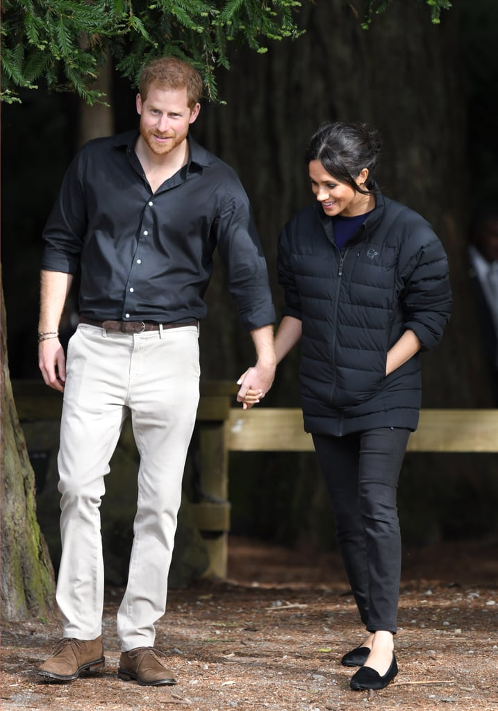 Meghan Completed Her Black Denim and Puffer Jacket With a Pair of Birdies Flats