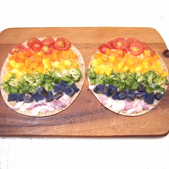 Vegan Rainbow Pizza