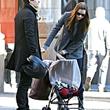 Miranda Kerr and Orlando Bloom out in NYC with Flynn.