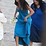 Selena Gomez headed to a photo shoot for a friend's wedding.