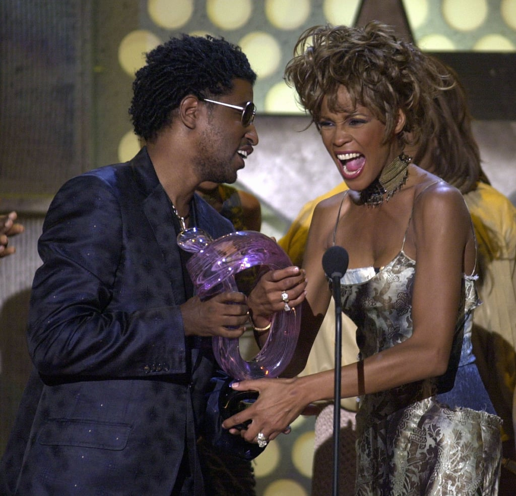 Whitney Houston accepted the Lifetime Achievement Award from Babyface at the BET Awards in 2001.