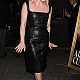 Jane Krakowski wowed in a black leather dress.