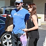 Sept. 20, 2015: They were seen looking smiley while leaving church with their kids.