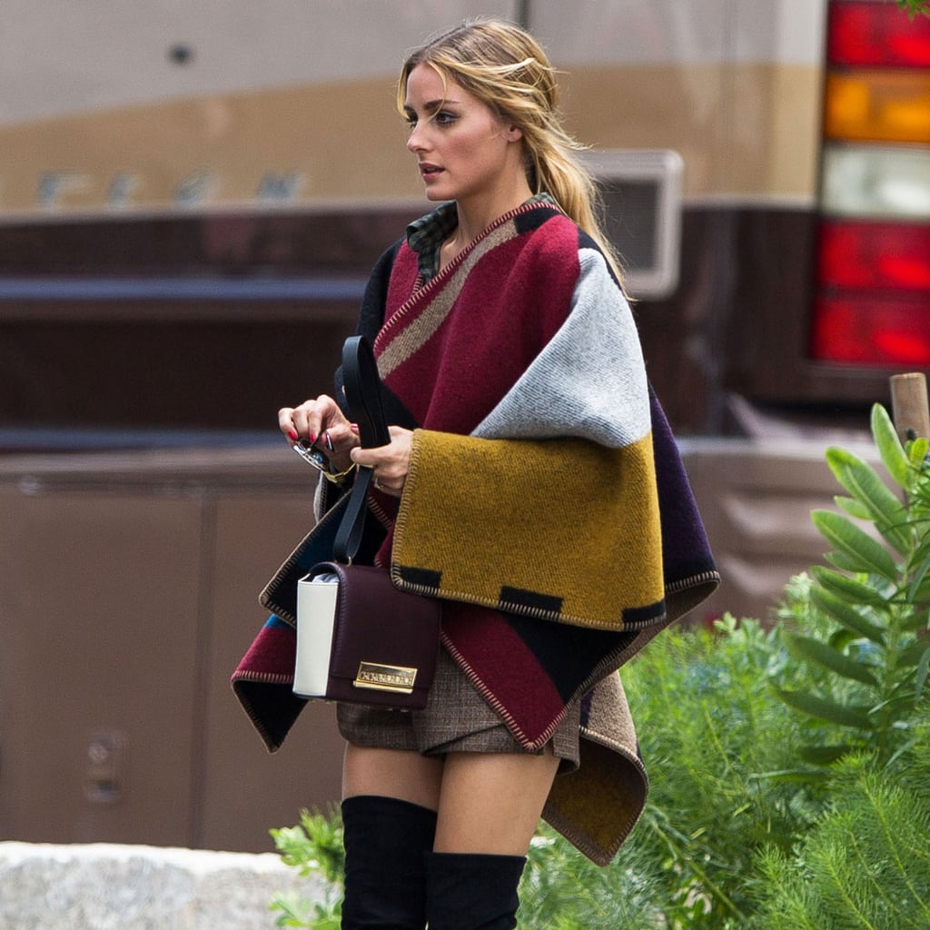 Olivia Palermo Wearing a Poncho