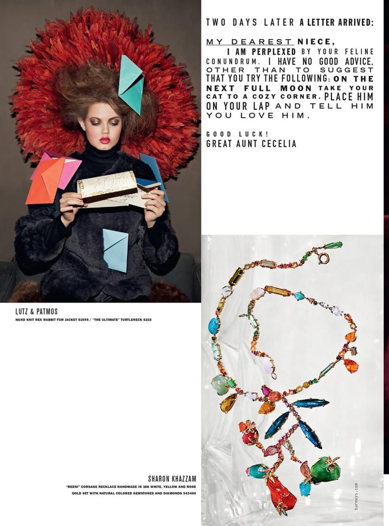 Pictures of Lindsey Wixson For Barneys Fall '10 Catalog