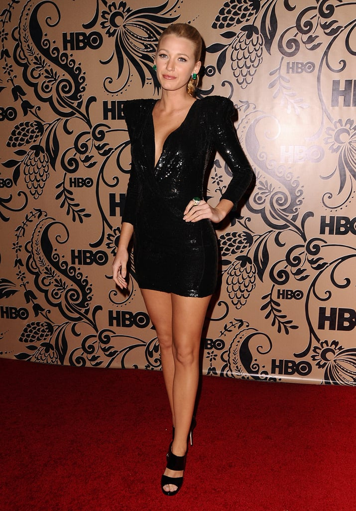 Wearing a Balmain dress and Jimmy Choo heels to HBO's Post Emmy Awards Reception in 2009.