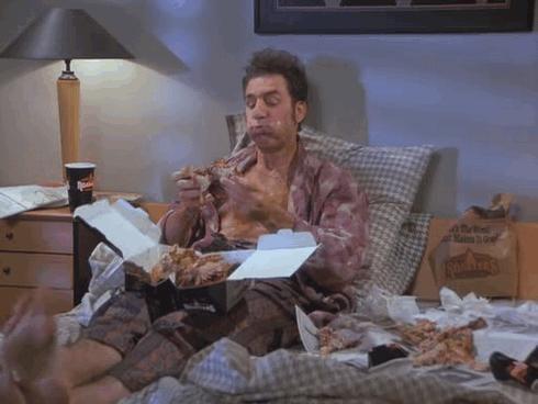When Kramer Is Gettin' Down With Some Chicken
