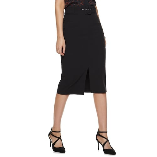 Nine West Belted Pencil Skirt