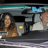 Francois-Henri Pinault took his wife Salma Hayek home after celebrating Halle Berry's birthday.