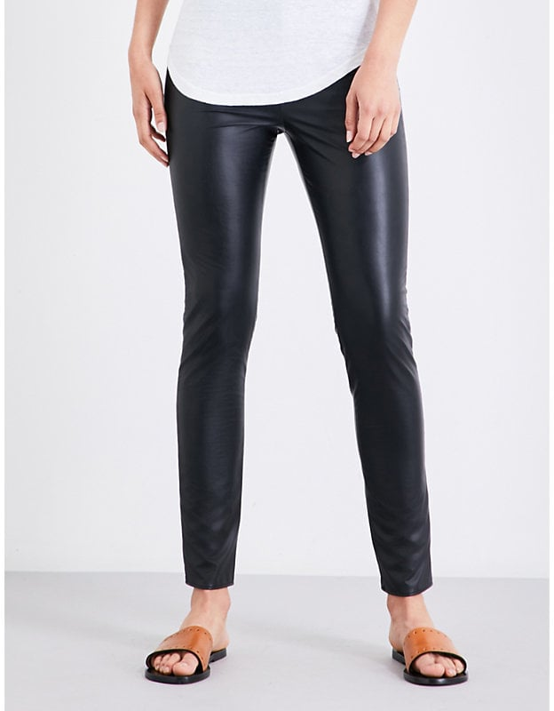f4e42f305d9 Etoile Isabel Marant Zeffery High-Rise Faux-Leather Trousers | What ...