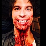 Somerhalder got into full vampire mode.