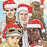 """Thank you so much for all your kind words about #theforceawakens !!! It was the most incredible experience and for you all to be enjoying it as much as you are is the ULTIMATE!!! Not sure who made this wonderful Christmas cheery artwork but I love it so from all of us, keep enjoying, keep discussing, keep tagging (don't post spoilers! Or post pictures you took in the cinema!) and happy, happy holidays 🎅🏼🎅🏼🎅🏼"""