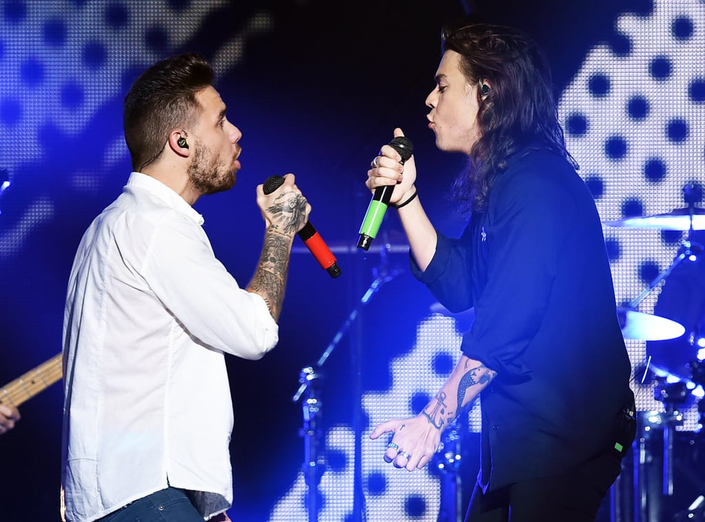 Liam Payne and Harry Styles at Jingle Ball in LA in 2015