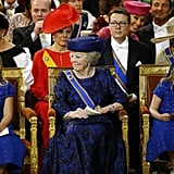 Princess Beatrix sat next to the younger princesses.
