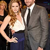 Amy Adams posed with Bradley Cooper at the Critics' Choice Awards in January.
