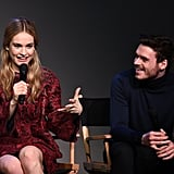 Lily James and Richard Madden fed off each other's energy while speaking about their new movie Cinderella at the Apple Store in NYC's SoHo neighborhood on Sunday.