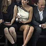 Jessica Alba was front row at Lanvin.