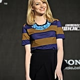 Emma Stone wore an outfit from Burberry Prorsum.
