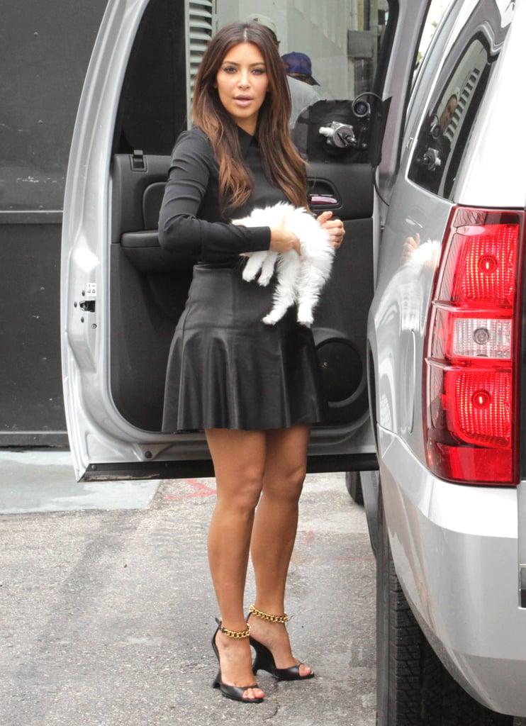 Kim Kardashian landed in Miami with Mercy.