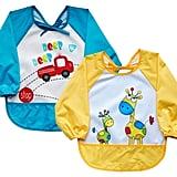 Leyaron 2 Pack Unisex Infant Toddler Baby Waterproof Sleeved Bib