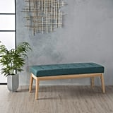 Christopher Knight Home Living Anglo Deep Teal Fabric Bench