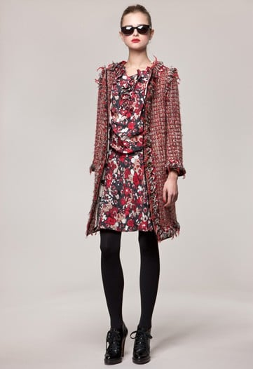 Moschino Cheap & Chic Mixes Tweeds, Florals and Feathers for Pre-Fall 2010