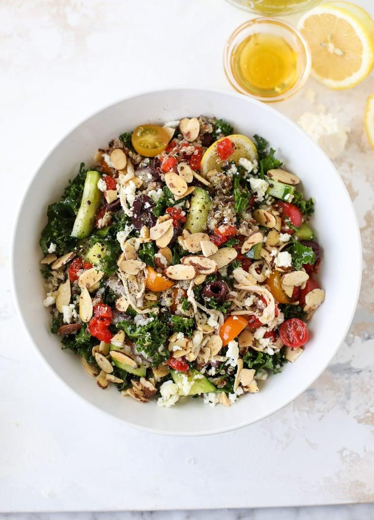 Mediterranean Kale Quinoa Salad With Chicken