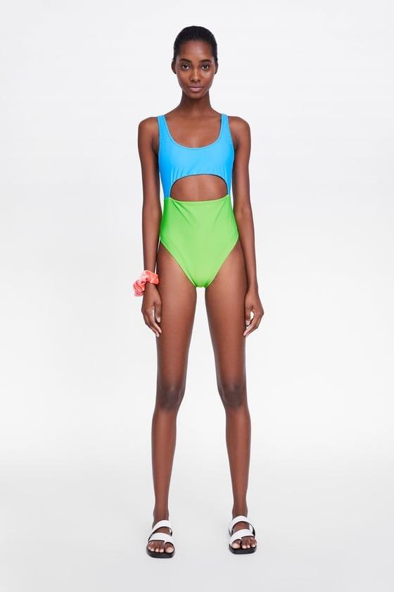 Zara Colorblock Swimsuit