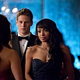 Zach Roerig and Kat Graham on The Vampire Diaries.