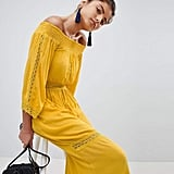 04b79219f1b Boohoo Lace Insert Bardot Maxi Dress SheIn Flounce Sleeve Ditsy Print Wrap  Dress Sunward ...
