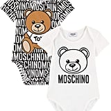 Moschino Pack of 2 Onesies With an Envelope Neck