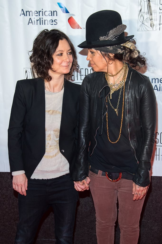 Sara Gilbert and Linda Perry could give someone a sweet tooth with their PDA-filled romance. The Roseanne actress confirmed her relationship with the former music producer and 4 Non Blondes frontwoman back in 2011, and they got engaged two years later. The duo made things official when they tied the knot in March 2014, and on Feb. 28, 2015, Sara gave birth to their first child, a baby boy named Rhodes Emilio Gilbert Perry. It was the third child for Sara, who has two children — a son and a daughter — from her previous relationship with television producer Allison Adler. Sara and Linda have kept their love going strong after nearly seven years. Keep reading to see their sweetest moments in pictures.      Related:                                                                                                           Sara Gilbert Was About the Same Age as Darlene's Daughter When She Started Roseanne