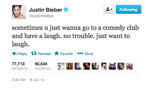 Laughter is the best medicine, Justin!