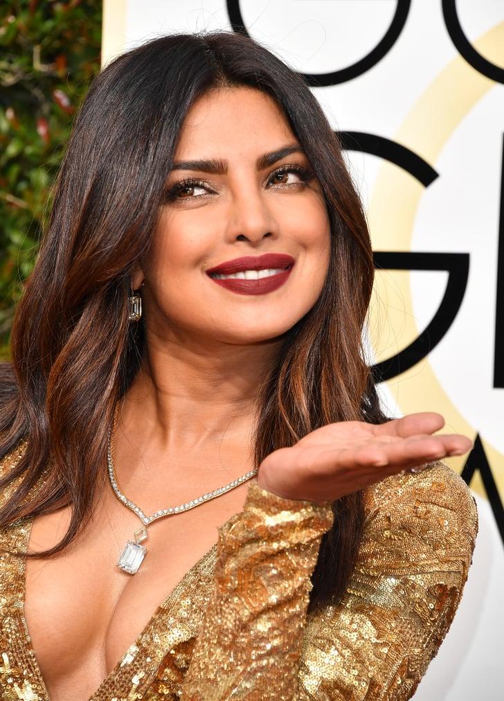 Priyanka Chopra S Makeup And Hair At The Golden Globes