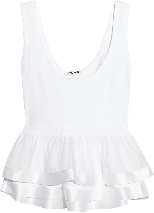 We could see how this Miu Miu Cotton and Silk-Organza Peplum Tank ($530) could become a Spring and Summer staple.