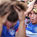 Fans in Chicago's Grant Park reacted to the US game against Portugal.