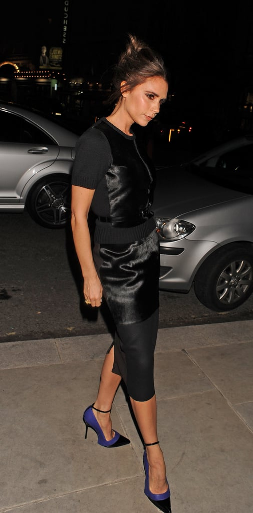 Victoria Beckham stepped out for the International Woolmark Prize Final in London.