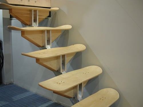 Would You Put Skateboard Steps in Your House?