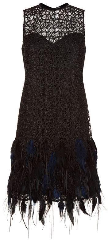 Elie Tahari Mirage Embellished Dress