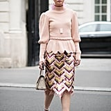 Style Your Sparkly Skirt With a Chic Sweater