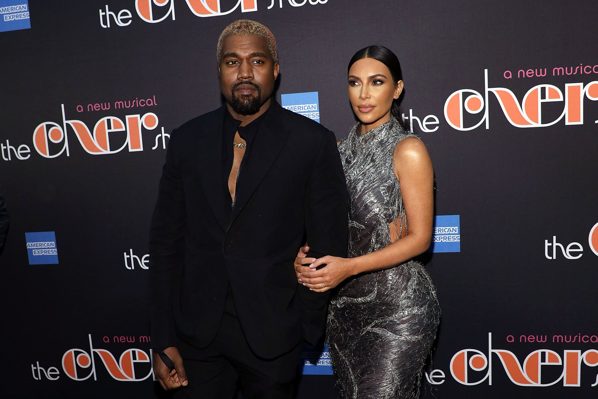 NEW YORK, NY - DECEMBER 03:  Kanye West and Kim Kardashian West attend opening night of
