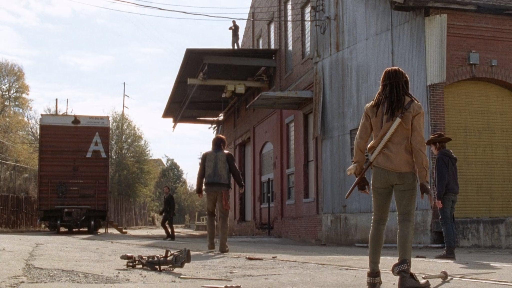 What does the letter a mean in the walking dead popsugar season 4 episode 16 biocorpaavc