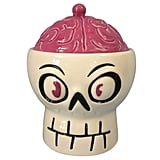 Hyde and Eek! Boutique Halloween Ceramic Skull & Brain Candy Bowl