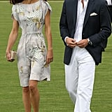 Will checked out Kate as they arrived for a 2011 polo match in Santa Barbara.