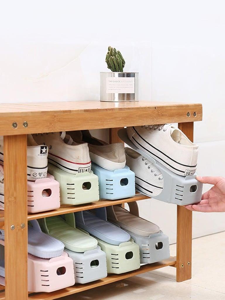 Random Color Double Layer Shoe Storage Rack