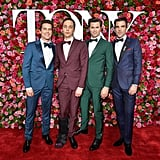 Matt Bomer, Jim Parsons, Andrew Rannells, and Zachary Quinto