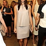 Ashley Greene wore a neutral shade in NYC.