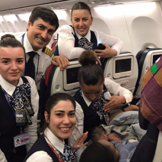 Turkish Airlines Cabin Crew Delivers Baby Midflight