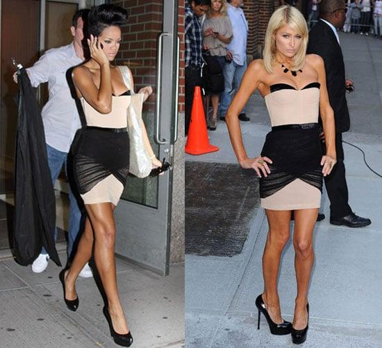 Photo of Rihanna and Paris Hilton Wearing Same Alexander Wang Corset Dress